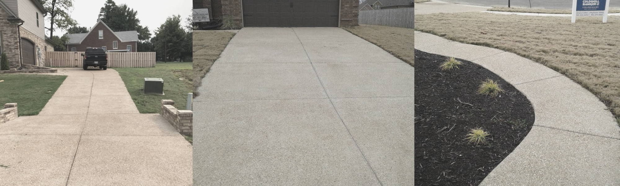 concrete driveways and sidewalks