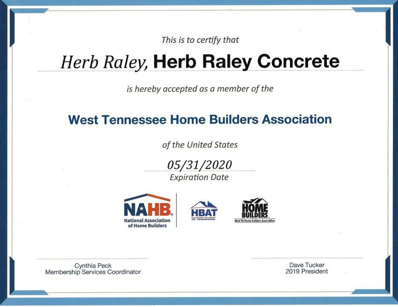 home builder certificate